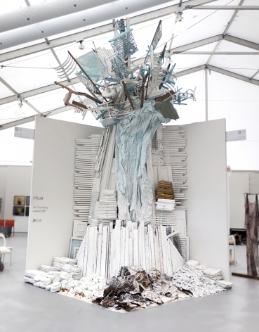 Site specific mixed media installation by Julie Schenkelberg at Untitled Miami 2015