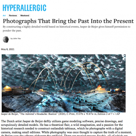 """Hyperallergic review on Jasper de Beijer: """"Photographs That Bring the Past Into the Present"""", by John Yau"""