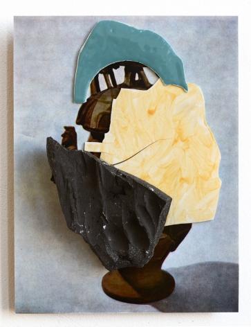 Ceramic on print work by Marjolijn de Wit
