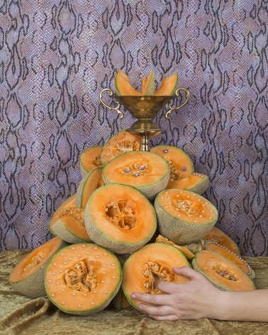 Cantaloupes from Casanova's Table, 2015, C-print