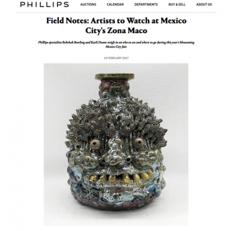 "Phillips, ""Field Notes: Artists to Watch at Mexico City's Zona Maco"""