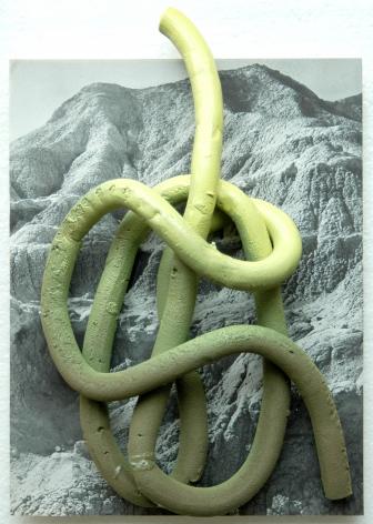 ceramic on print by Marjolijn de Wit