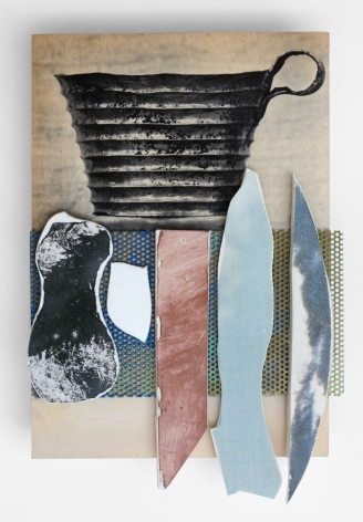 Ceramic and metal on print