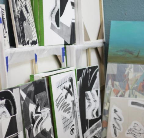 Shane Walsh's studio
