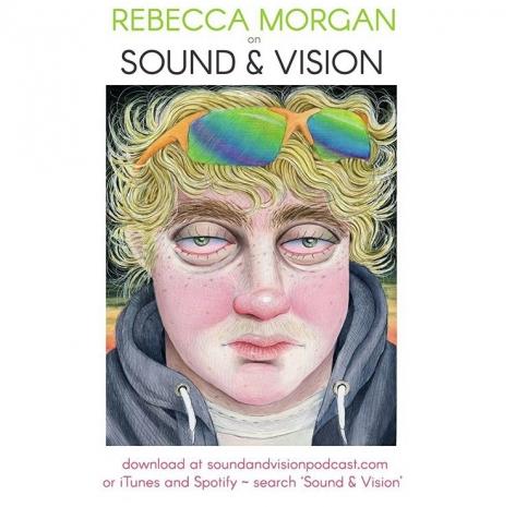 Rebecca Morgan on Sound & Vision Podcast promo graphic - Interview with Rebecca Morgan, Episode 204