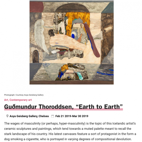 Gudmundur Thoroddsen, Earth to Earth, with painting