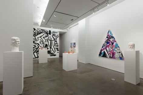 Installation of sculptures and paintings