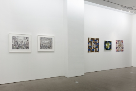 Installation of mixed media works