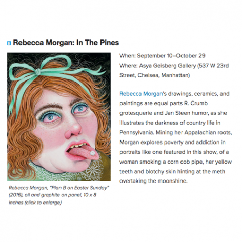 Rebecca Morgan in the pines