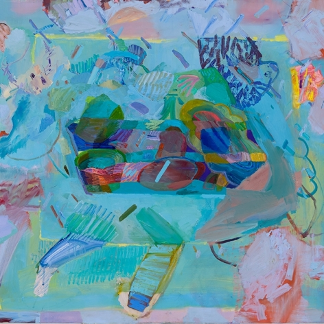 """Painting by Carolyn Case in """"The Asian Curator"""" - """"Artist Profile: Carolyn Case"""", by Anjali Singh"""