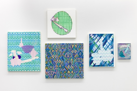 Installation of paintings by Todd Kelly