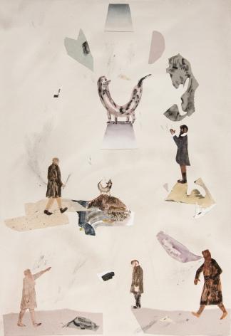 Mixed media on paper by Gudmundur Thoroddsen