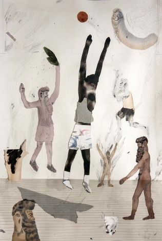 collage work on paper