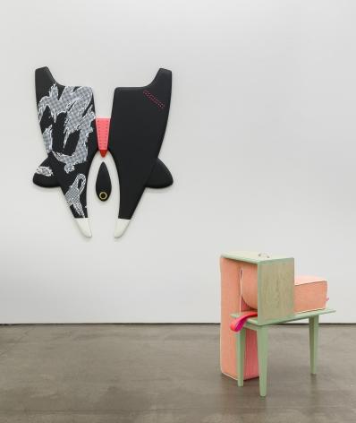 Installation of vinyl floor and wall sculptures by Trish Tillman