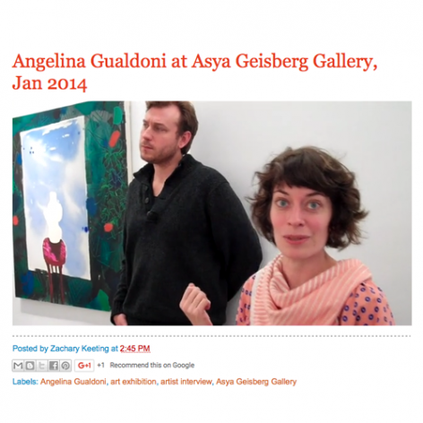 Video Interview with Angelina Gualdoni
