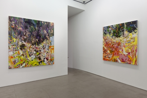 installation of paintings by Allison Gildersleeve