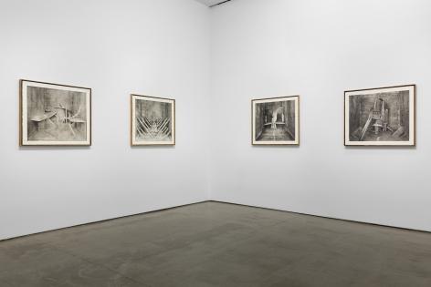 """Installation view of Rodrigo Valenzuela: """"Stature"""""""