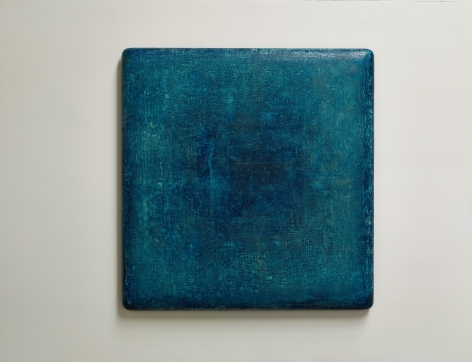 Cobalt Blue Charm 魅藍, 2019, oil, lacquer, linen and wood