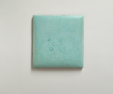 Infinity - No. 6 (Turquoise) 冰裂-6, 2019, oil, lacquer, linen and wood