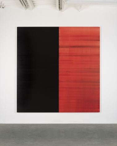 CALLUM INNES, Untitled Lamp Black / Crimson Lake, 2019