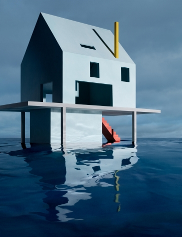 JAMES CASEBERE, Blue House on Water #2, 2018
