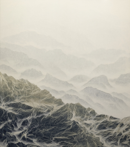 WU CHI-TSUNG, Cyano-Collage 082, 2020, the work is accompanied by a signed certificate of authenticity, cyanotype photography, Xuan paper, acrylic gel, 48 x 42 1/2 inches (122 x 108 cm), WCT-26