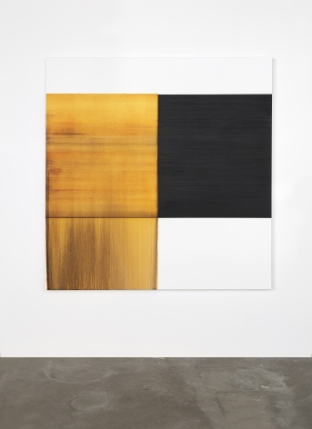 CALLUM INNES, Exposed Painting Quinacridone Gold, 2020, oil on linen, 68 7/8 x 67 3/4 inches (175 x 172 cm), CI-46.20