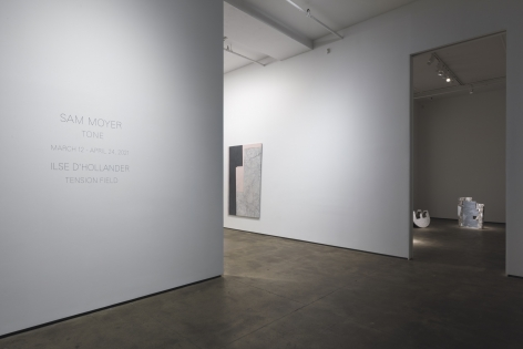 Installation view of Sam Moyer: Tone at Sean Kelly, New York