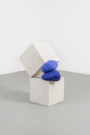 Untitled, 2020, concrete, boulders and epoxy paint