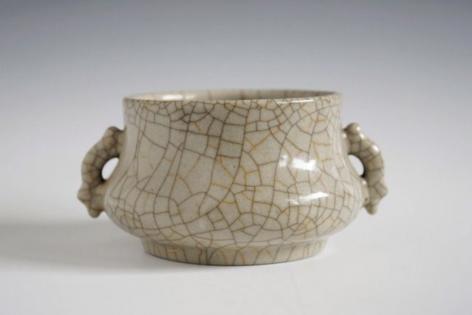 哥窯簋式爐, Southern Song Dynasty (1128 - 1279 CE), Ge ware kuei-style censer