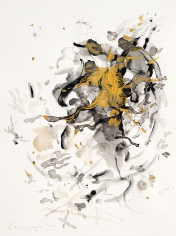 Capuzzelle V, 2012, mixed media on paper
