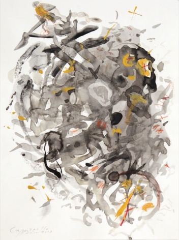 Neapolitan Rock Formation, 2012, mixed media on paper