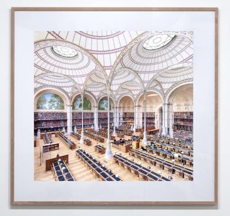 CANDIDA HÖFER, La Salle Labrouste - La Bibliothèque de l'INHA Paris III 2017