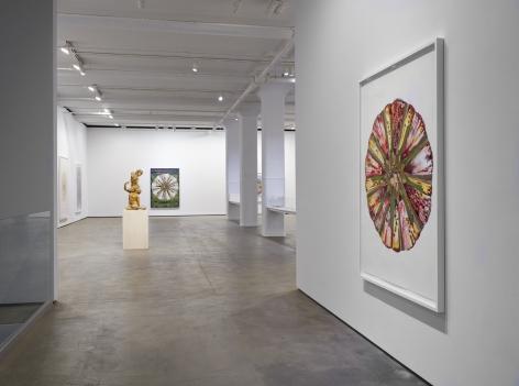 Installation view ofShahzia Sikander:Weeping Willows, Liquid Tonguesat Sean Kelly, New York, November 5 – December 19, 2020