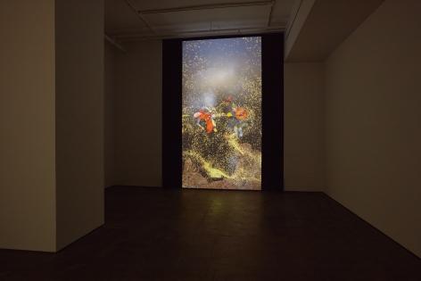 Installation view of Shahzia Sikander:Weeping Willows, Liquid Tonguesat Sean Kelly, New York, November 5 – December 19, 2020