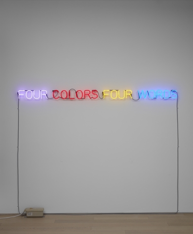 JOSEPH KOSUTH, 'Four Colors Four Words', 1966