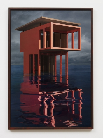 Red/Orange Solo Pavilion, 2018, framed archival pigment print mounted to dibond