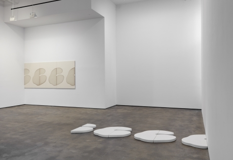 Installation view of Landon Metz: Asymmetrical Symmetry at Sean Kelly, New York