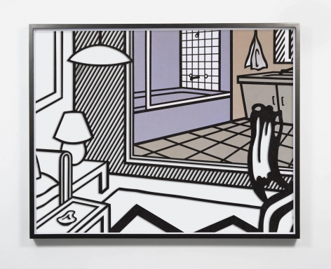 Untitled (Interior with Bathroom Painting), 2020, archival pigment print