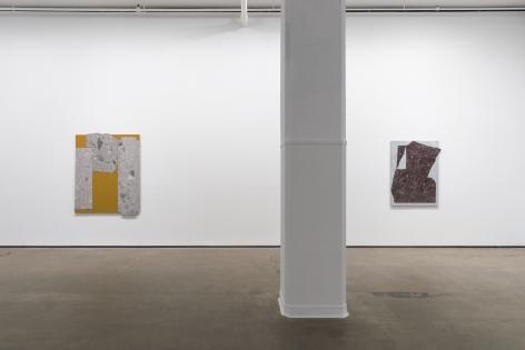 Installation view of Sam Moyer:Toneat Sean Kelly, New York