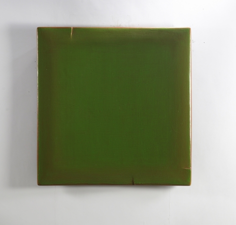 Viridescence 綠意-2, 2014, oil, lacquer, linen and wood