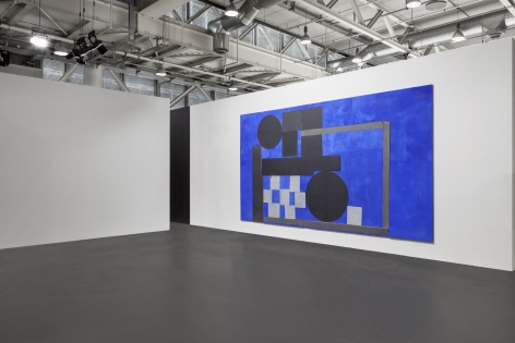 Installation view of'92 Electric Blue Explorer, 2018 by Sam Moyerat Art Basel Unlimited2018, Booth U18, June14 - 17, 2018