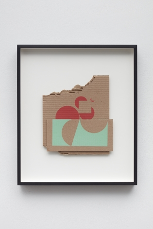 Orden Discontinuo LI, 2019, silkscreen print on cardboard
