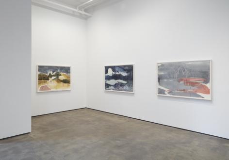 Installation view ofJanaina Tschäpe: HumidGray and ShadowLakeat Sean Kelly, New York