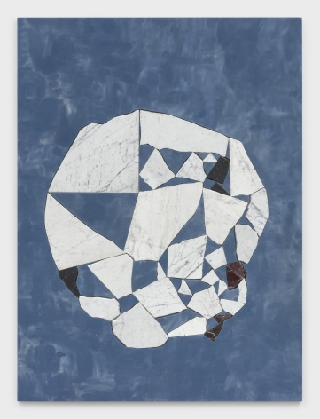 SAM MOYER, World, 2020, the work is accompanied by a signed certificate of authenticity, marble and hand painted canvas mounted to MDF, 66 x 49 x 1 1/2 inches (167.6 x 124.5 x 3.8 cm), SM-P.20.1355
