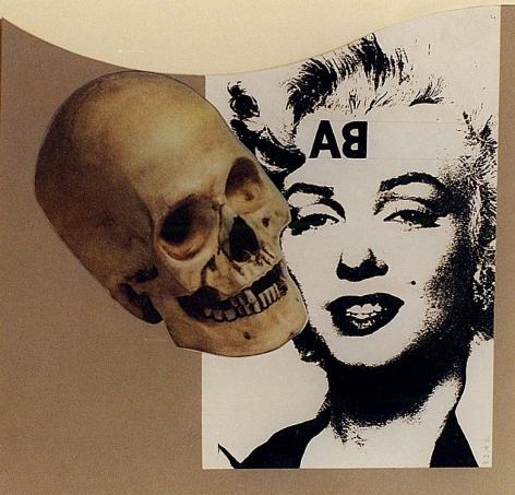 RAY JOHNSON Untitled (Skull with Marilyn), 1992