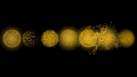 Singing Suns, 2016, HD video animation with sound; Music by Du Yun; Animation by Patrick O'Rourke