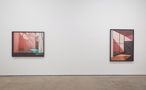 Installation view of James Casebere: Emotional Architecture at Sean Kelly, New York