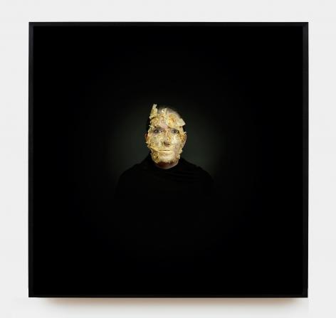 MARINA ABRAMOVIC, Portrait with Golden Mask, 2009