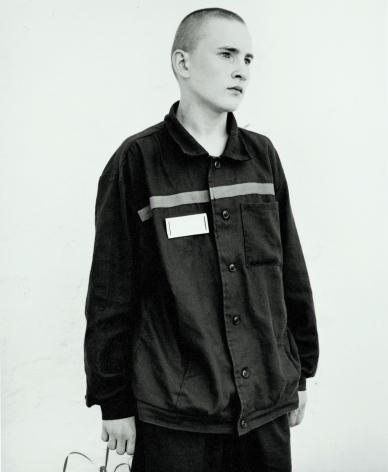 Sad boy in juvenile prison, Russia, 2003